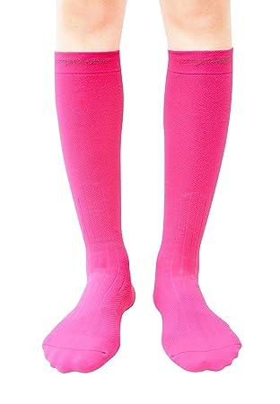 Calcetines Acolchados y Térmicos para esquiar (1 par), 20-30mmHg - para hombres y mujeres - Color - Rosa - Talla - S: Amazon.es: Deportes y aire libre