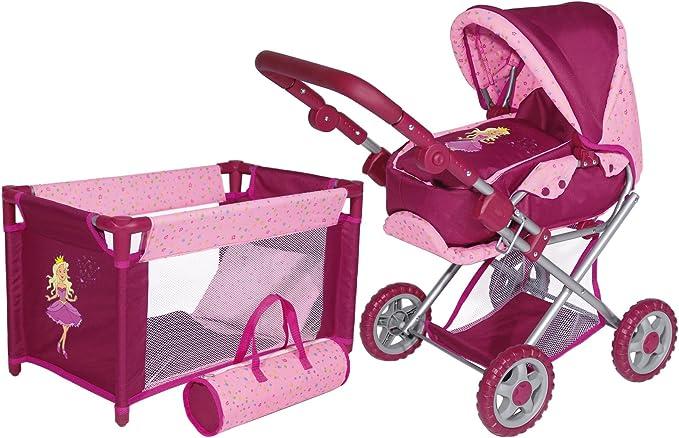 Set Bayer para muñecas con cochecito, cuna, bolsa y