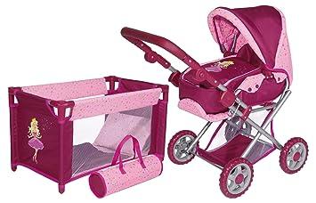 Amazon.es: Bayer Design 13996S - Set de cuna y cochecito de paseo para muñecas: Juguetes y juegos