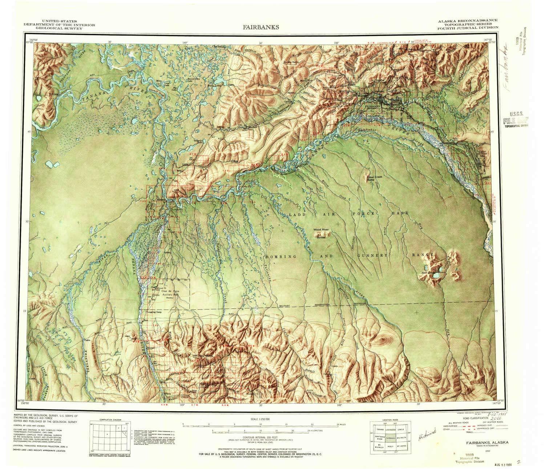 Amazon com : YellowMaps Fairbanks AK topo map, 1:250000