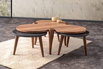 Amazon.com: Clover Walnut Coffee Table / End Table Set: Kitchen & Dining