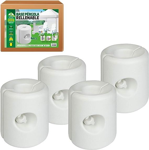 Aktive 62201 - Pack 4 soportes blancos para carpas 25 x 25 x 25 cm Garden: Amazon.es: Jardín