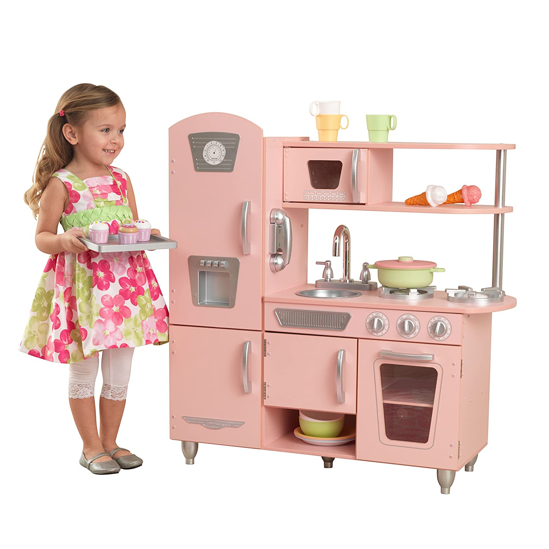 c5934471831d4 Amazon.com  Kidkraft Vintage Kitchen in Pink  Toys   Games