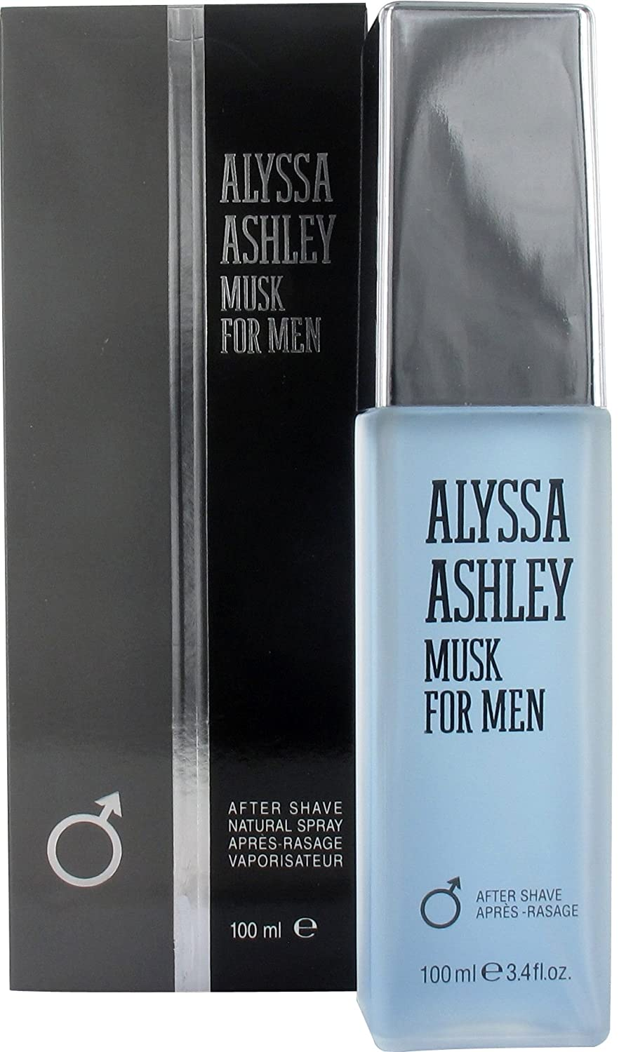 Musk After Shave 100 ml Dopo Barba Spray Uomo Alyssa Ashley Italy NLP126120