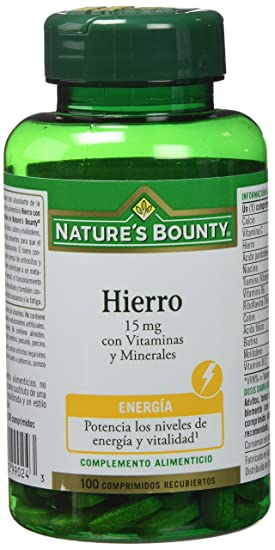 NATUREŽS BOUNTY - HIERRO 15mg VIT. MINE. 100comp NAT.BOUNTY: Amazon.es: Salud y cuidado personal