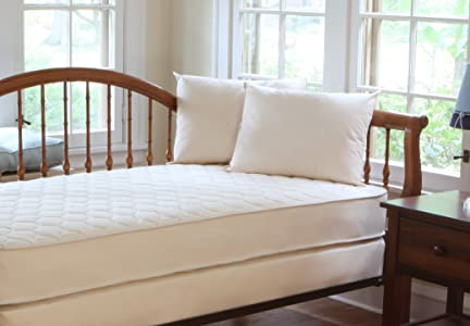 Naturepedic Twin 2 Sided Quilted Organic Cotton Deluxe Mattress and Foundation Set
