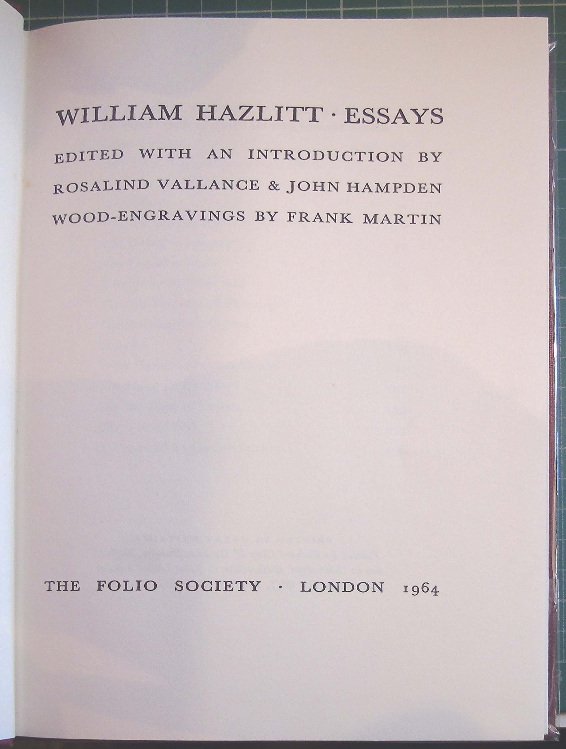 Sample Narrative Essay High School William Hazlitt Essays Amazoncouk William Edited By Rosalind Vallance  And John Hampden Hazlitt Frank Martin Books English Essay About Environment also Example Essay Thesis William Hazlitt Essays Amazoncouk William Edited By Rosalind  Examples Of Essays For High School