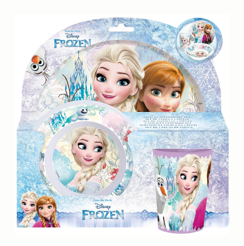 Kinder Frühstücksset Frozen Melamin Kindergeschirr Disney Geschenkidee