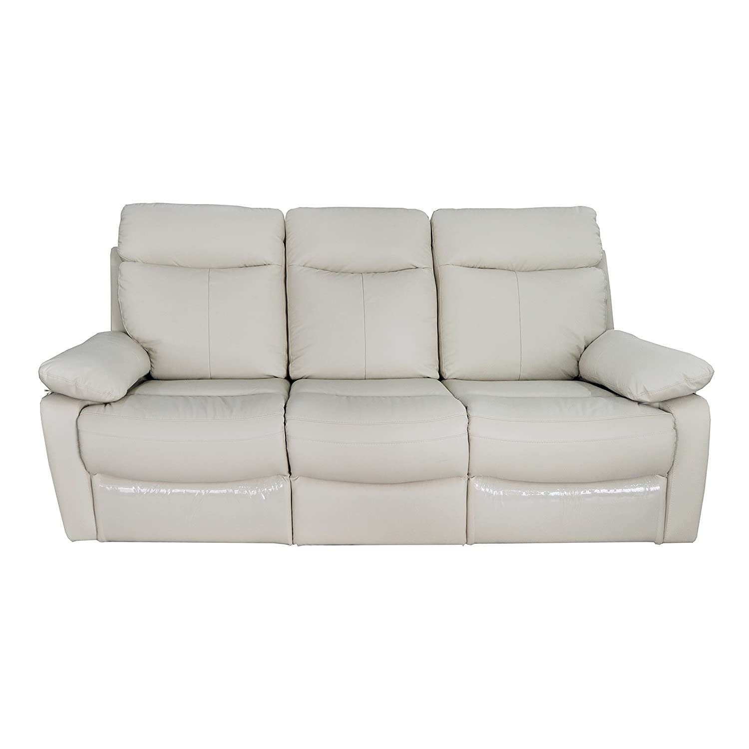 Christies Home Living Ryker-Taupe-DRS Leather Contemporary Reclining Sofa
