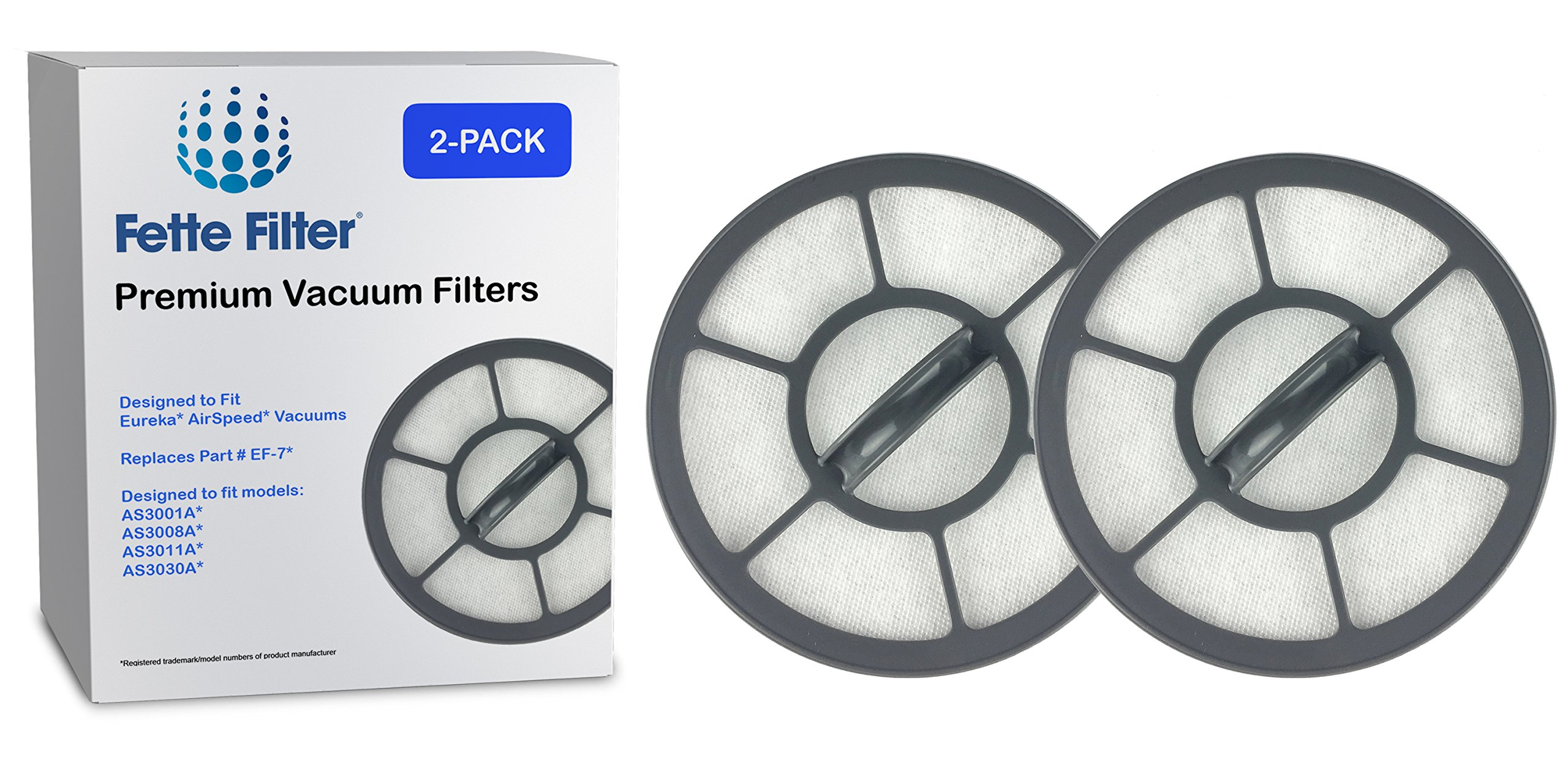 2-Pack - Eureka AirSpeed Compatible Exhaust Filter EF-7 For Models AS3001A, AS3008A, AS3011A, AS3030A. Replaces Part Number 091541