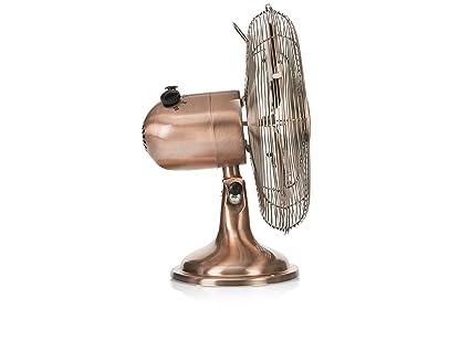Ventilador de mesa retro Tristar VE-5970 - 12 pulgadas - Oscilante - Acabado cobre: Amazon.es: Bricolaje y herramientas