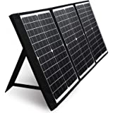 PAXCESS 60W 18V Portable Solar Panel, Off Grid Foldable Solar Charger with USB QC 3.0&Type C Output, Compatible with Rockpals