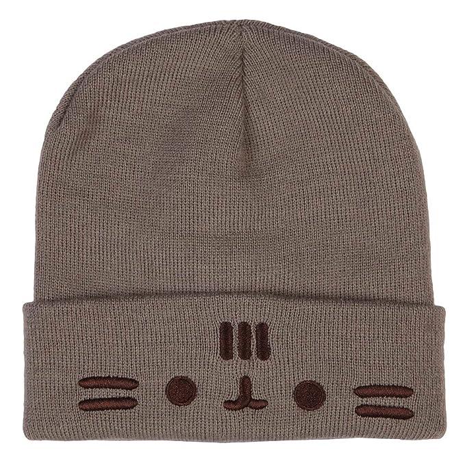 6ce418c28f6 Amazon.com  Pusheen Knit Hat (Beret)  Clothing