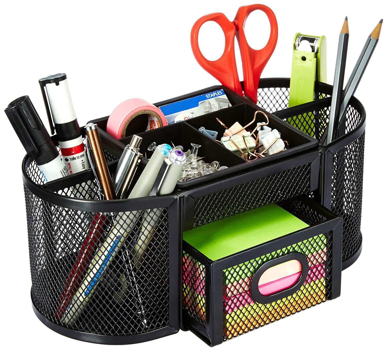 AmazonBasics Mesh Desk Organizer, Black product image