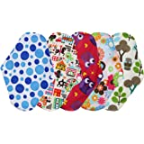 5 Pack 4period Organic Cotton Reusable Cloth Menstrual Period Pads Heavy Flow