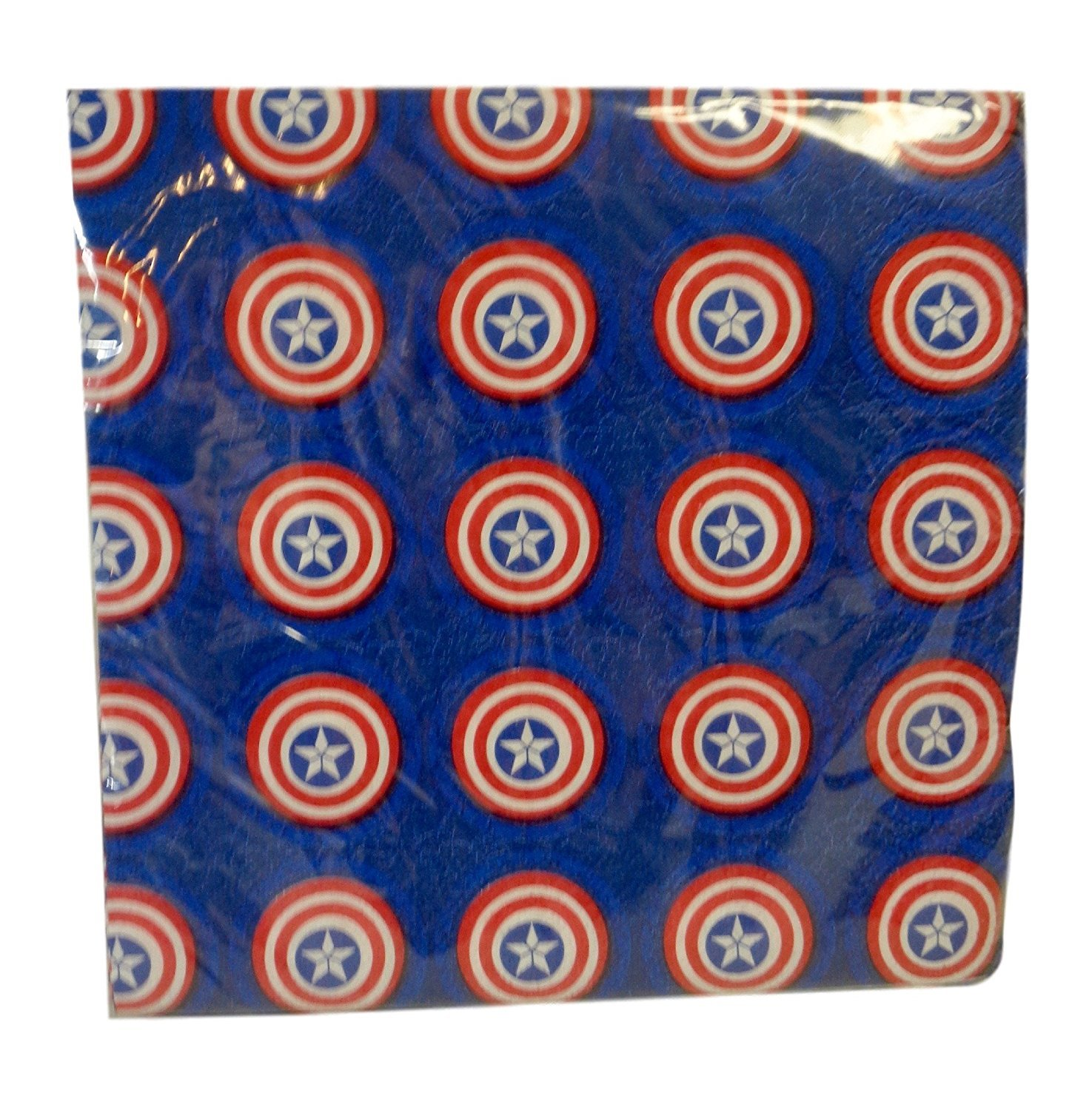 Marvel AVENGERS Captain America Party Luncheon Napkins 2 Ply, 13 Inches SQ (32 Per Pack)