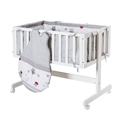 Roba Baby Cama Adam & búho, cama auxiliar con freno Ruedas, incluye
