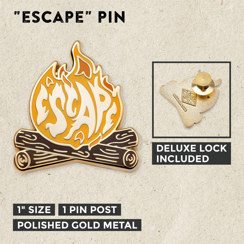 Asilda Store Lapel Enamel Pin Traveler with Deluxe Pin Lock