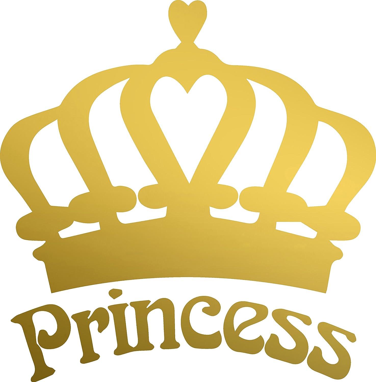 Amazon.com: ANGDEST Princess Crown (METALLIC GOLD) Waterproof Vinyl ...