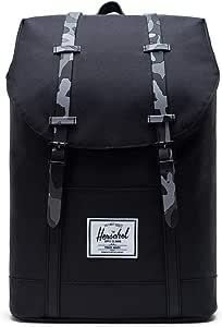Herschel Retreat Backpack, Black/Night Camo, Classic 19.5L, Retreat Backpack