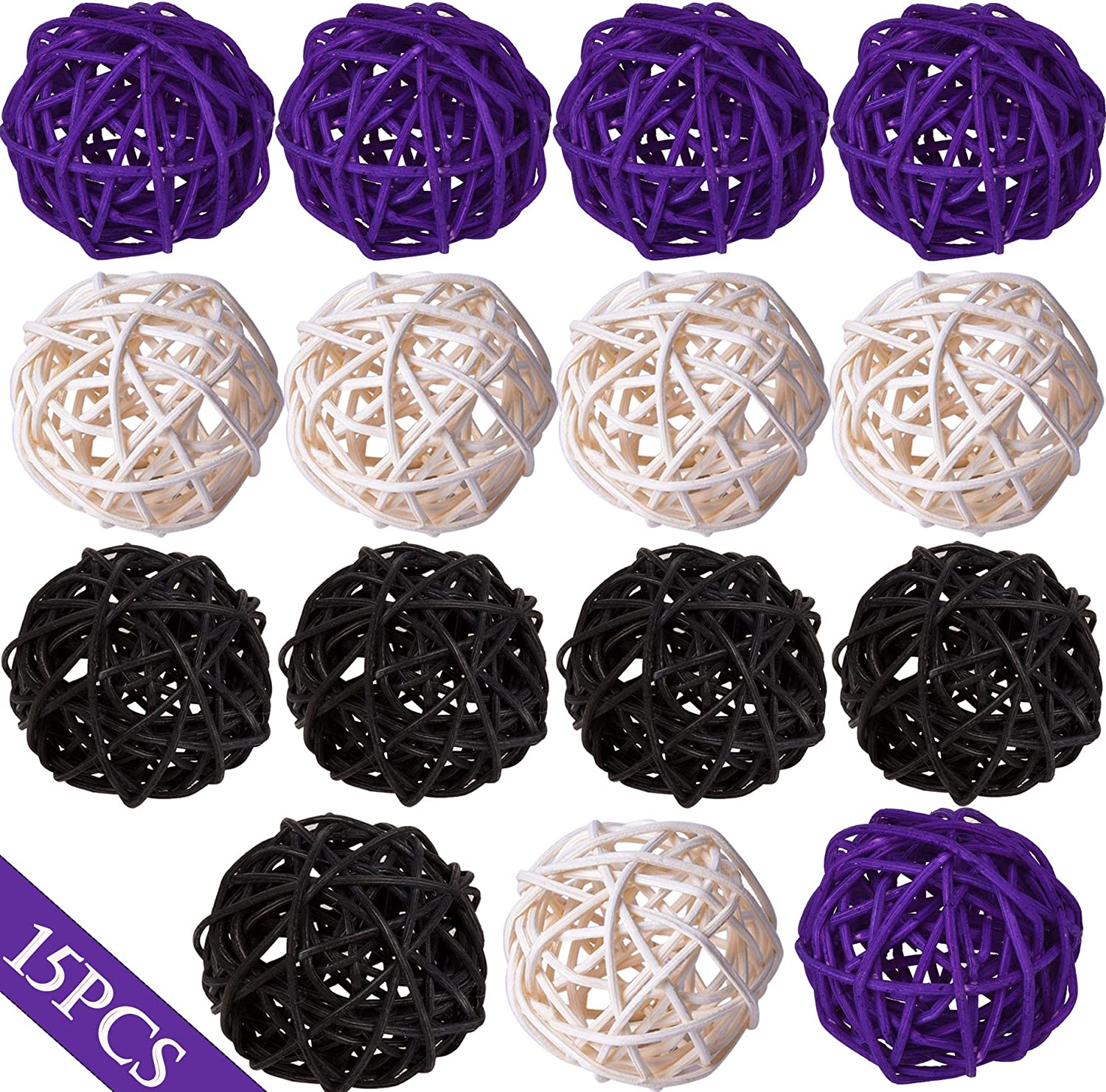 20Pcs Decorative Rattan Ornament Balls Christmas Birthday Party Wicker Balls