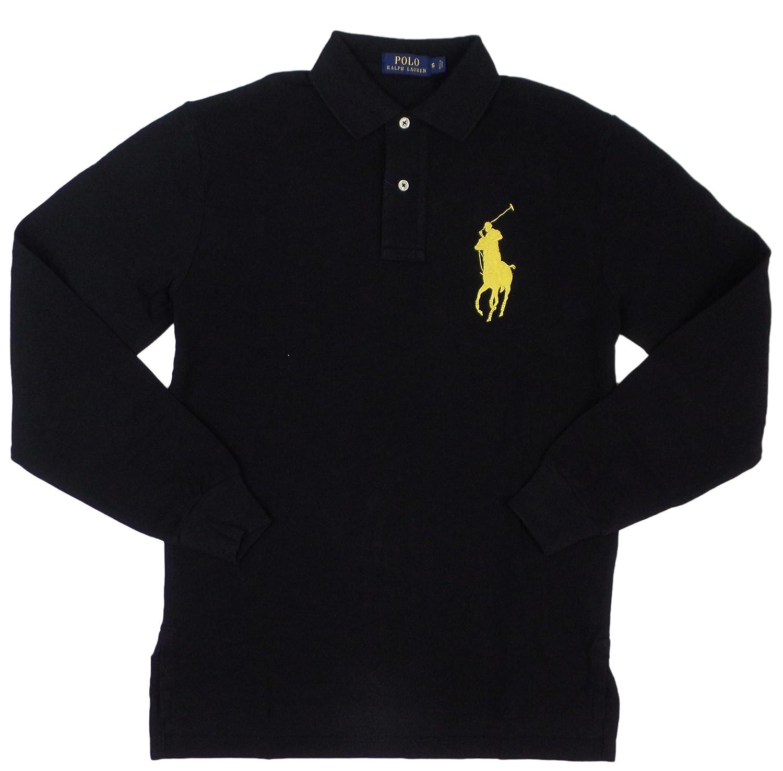 Polo Ralph Lauren Men\u0027s Big Pony Long Sleeve Polo Shirt at Amazon Men??s