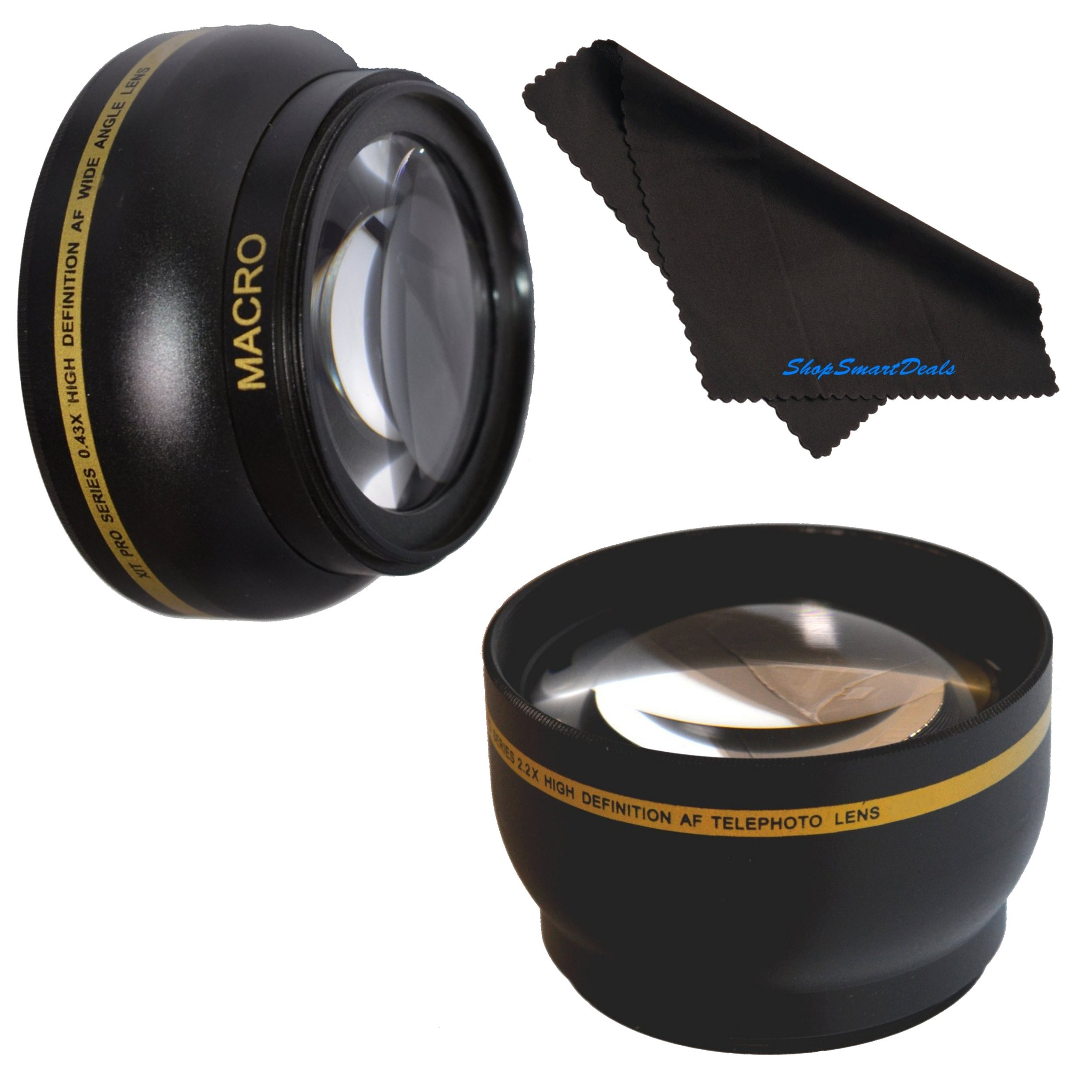 72mm HD 2.2x Telephoto & .43x Wide Angle Lens Bundle for Canon EF 180mm f/3.5L Macro USM 72mm Wide Angle Lens, 72mm Telephoto Lens, 72mm Lens, 72mm Lens Kit