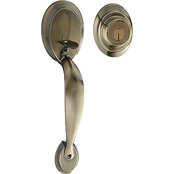Kwikset 687dalip 5s Dakota Single Cylinder Exterior Handleset Smart Key Antique Brass Finish