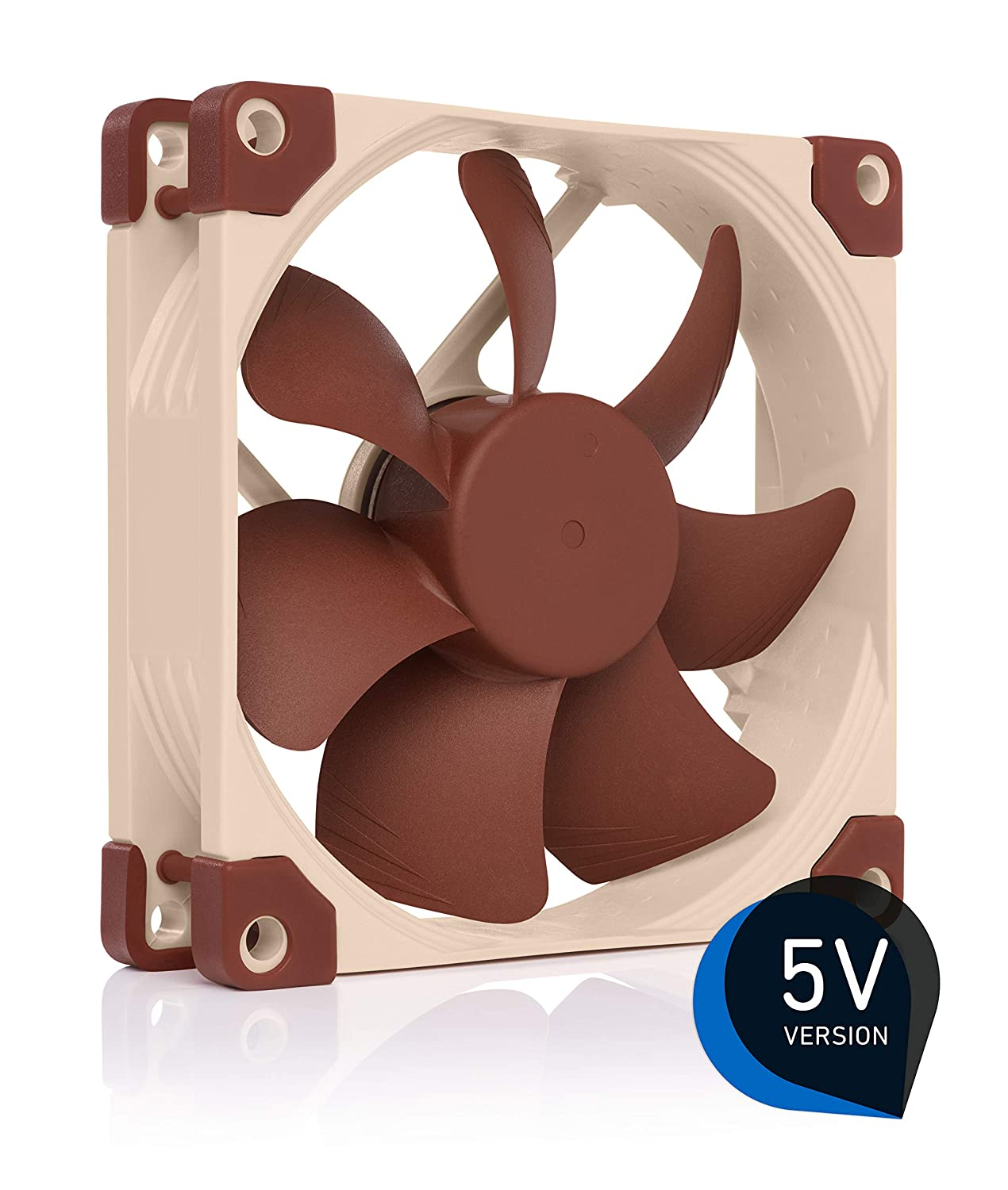 Noctua NF-A9 5V, Premium Quiet Fan with USB Power Adaptor Cable, 3-Pin, 5V Version (92mm, Brown)