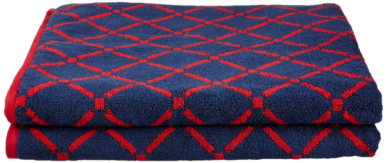 【希少!!】 優れたコレクション豪華なダイヤモンド DIA、100 %コットン Bath Bath Sheet Set DIA BSHEET CHCR Blue B0158IPHBK Bath Sheet Set Red/Navy Blue Red/Navy Blue Bath Sheet Set, 清水町:8a2d81b7 --- ciadaterra.com