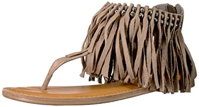 Not Rated Women's Solene Flat Sandal, Taupe, ...