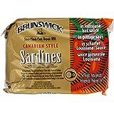 Brunswick Canadian Style Sardines in Louisiana Hot Sauce 106 g (Pack of 12)
