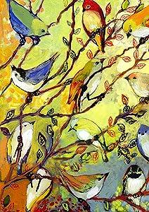 Toland Home Garden 1012298 Birdy Branches 28 x 40 Inch Decorative, House Flag (28