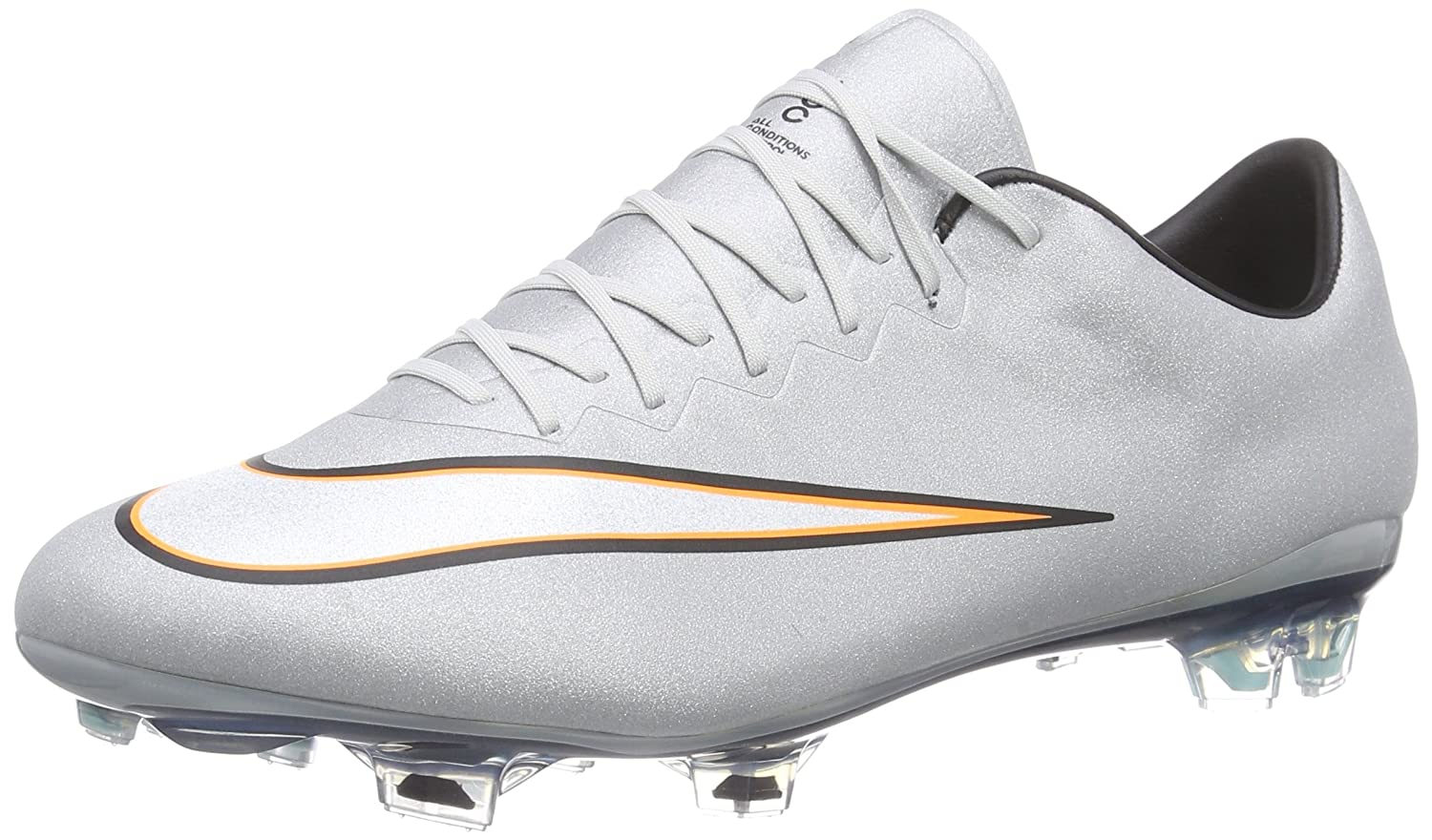 Nike Mercurial Vapor X CR Firm Ground (METALLIC SILVER/HYPER TURQ/BRIGHT CITRUS/WHITE) B0046BK86A 6.5 D(M) US