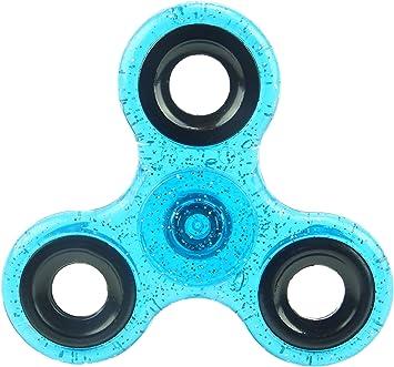 Glitter Hand Spinner - Alivio de estrés y ansiedad - colores surtidos (turquesa): Amazon.es: Juguetes y juegos