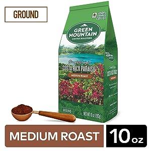 Green Mountain Coffee Roasters Costa Rica Paraiso Ground Coffee 10oz