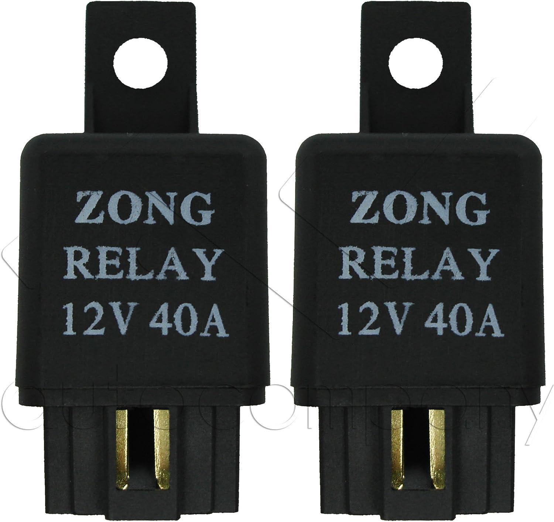 2x DC 12V 40A 40 AMP Car Auto Automotive Van Boat Bike 4 Pins SPST Alarm Relay