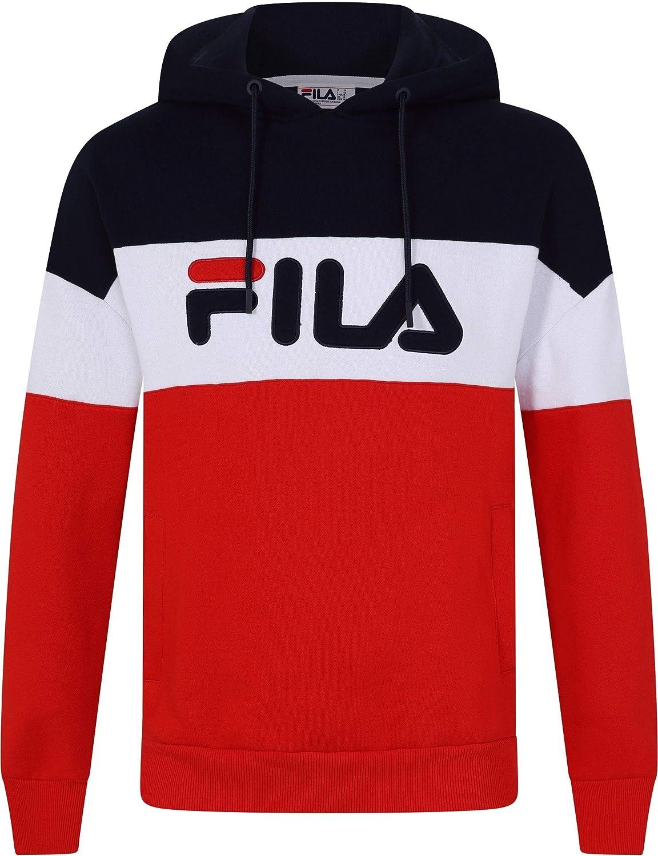 Fila Rayton Logo Hoodie Red Fila Black Line LM1838AH-640