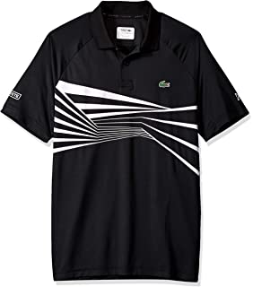 c4ad8c36 Lacoste Men's Sport Novak Djokovic Short Sleeve Ultra Dry Graphic Polo