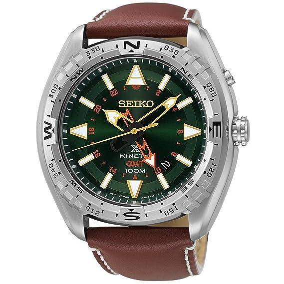 Seiko Kinetic Prospex de la hombre-reloj analógico de cuarzo cuero SUN051P1: Seiko: Amazon.es: Relojes
