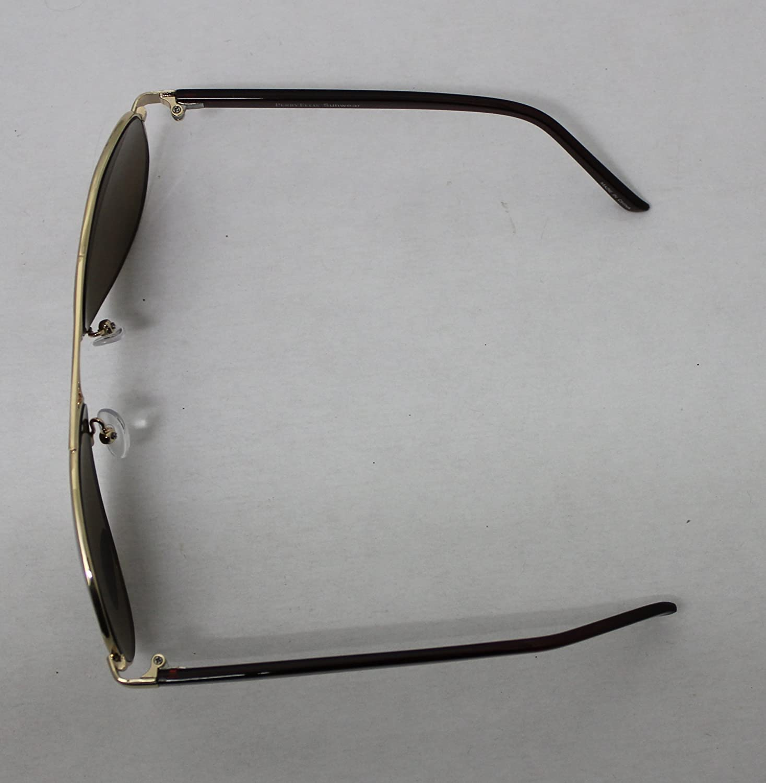 Perry Ellis, Metal de oro de gafas de sol, diseño de aviador ...