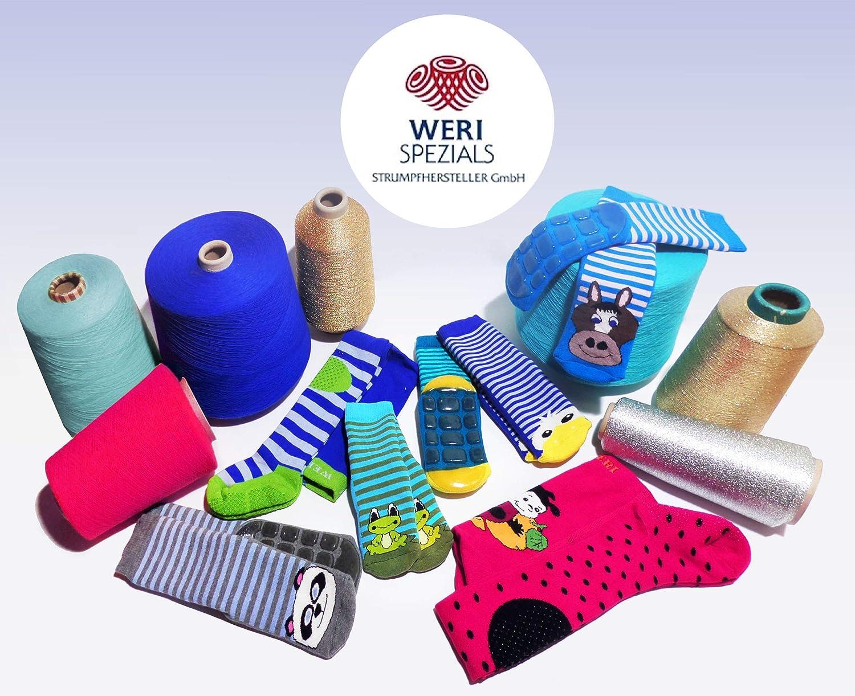 Weri Spezials para ni/ños y ni/ñas divertidos perros Color gris. Calcetines antideslizantes para beb/és y ni/ños de tejido de rizo ABS