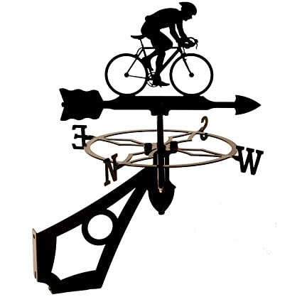 Cyclist//bicycle weathervane or Sign Profile-Laser Cut