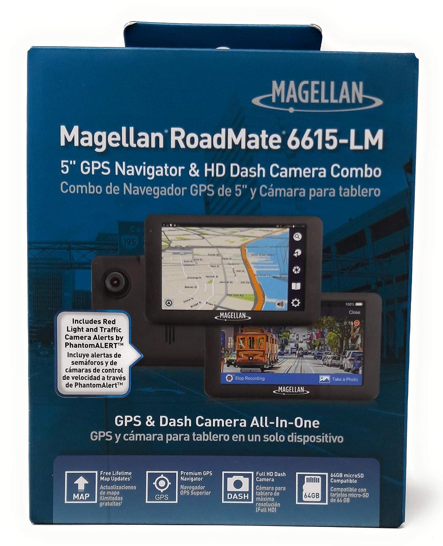 Magellan RoadMate 6615-LM Automobile Portable GPS Navigator and Full HD 1080p Dash Camera - Portable