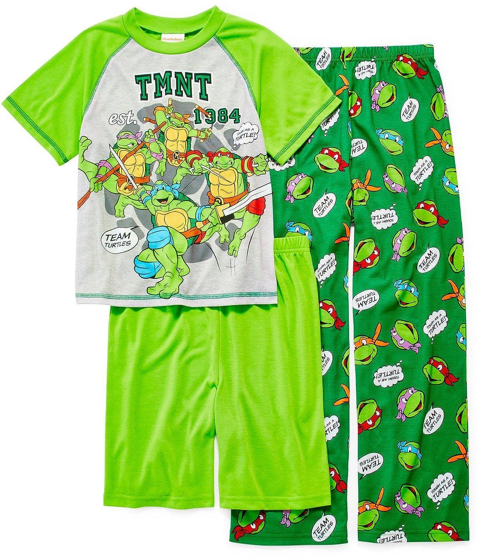 Tortugas Ninja niños 3 piezas Juego de pijama tamaños 4 - 12 ...