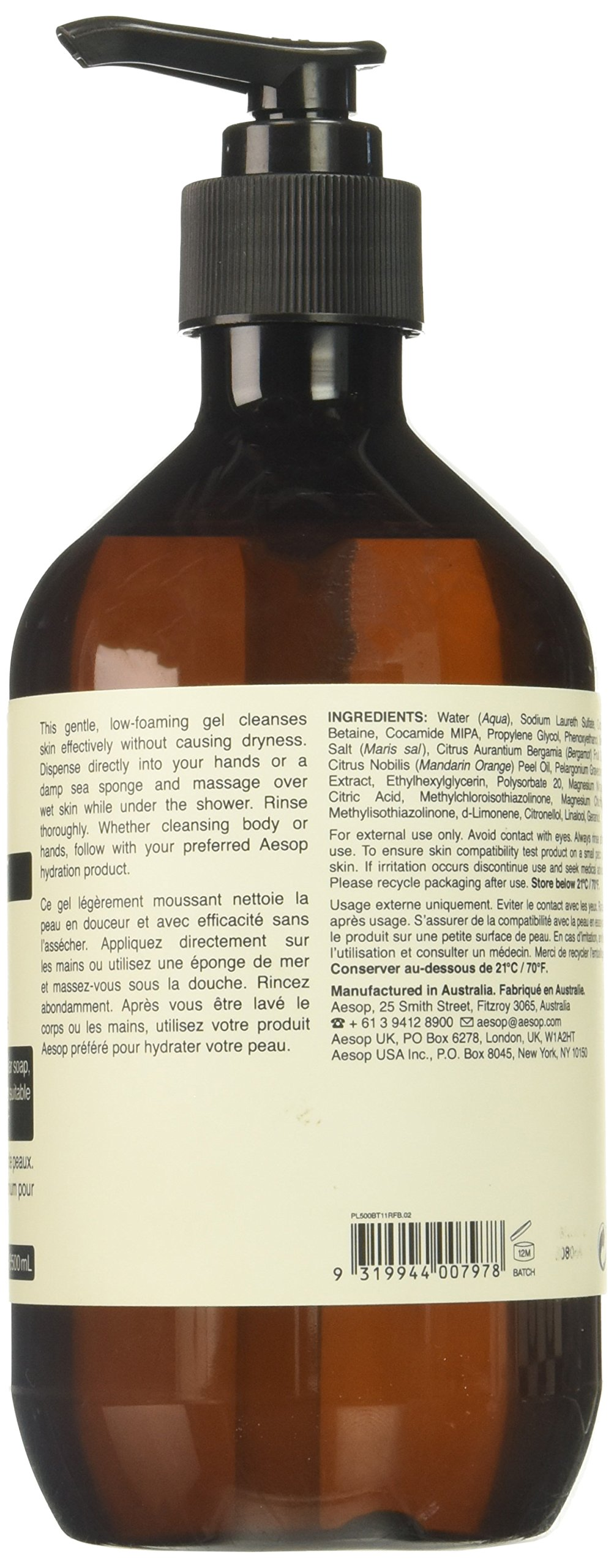 Aesop Geranium Leaf Body Cleanser, 16.9 Ounce by Aesop (Image #2)
