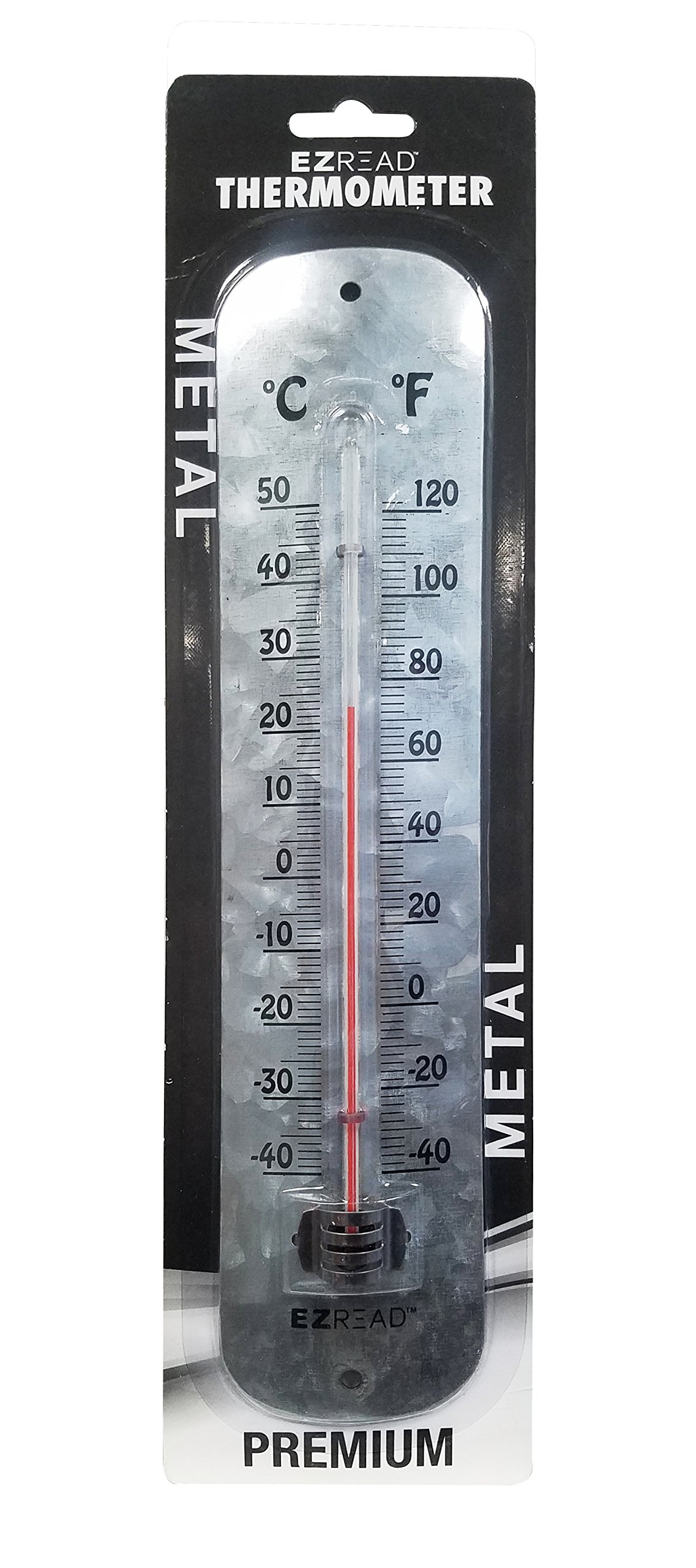 Headwind Consumer Products 840-0090 Metal Thermometer Antique Aluminum 12''