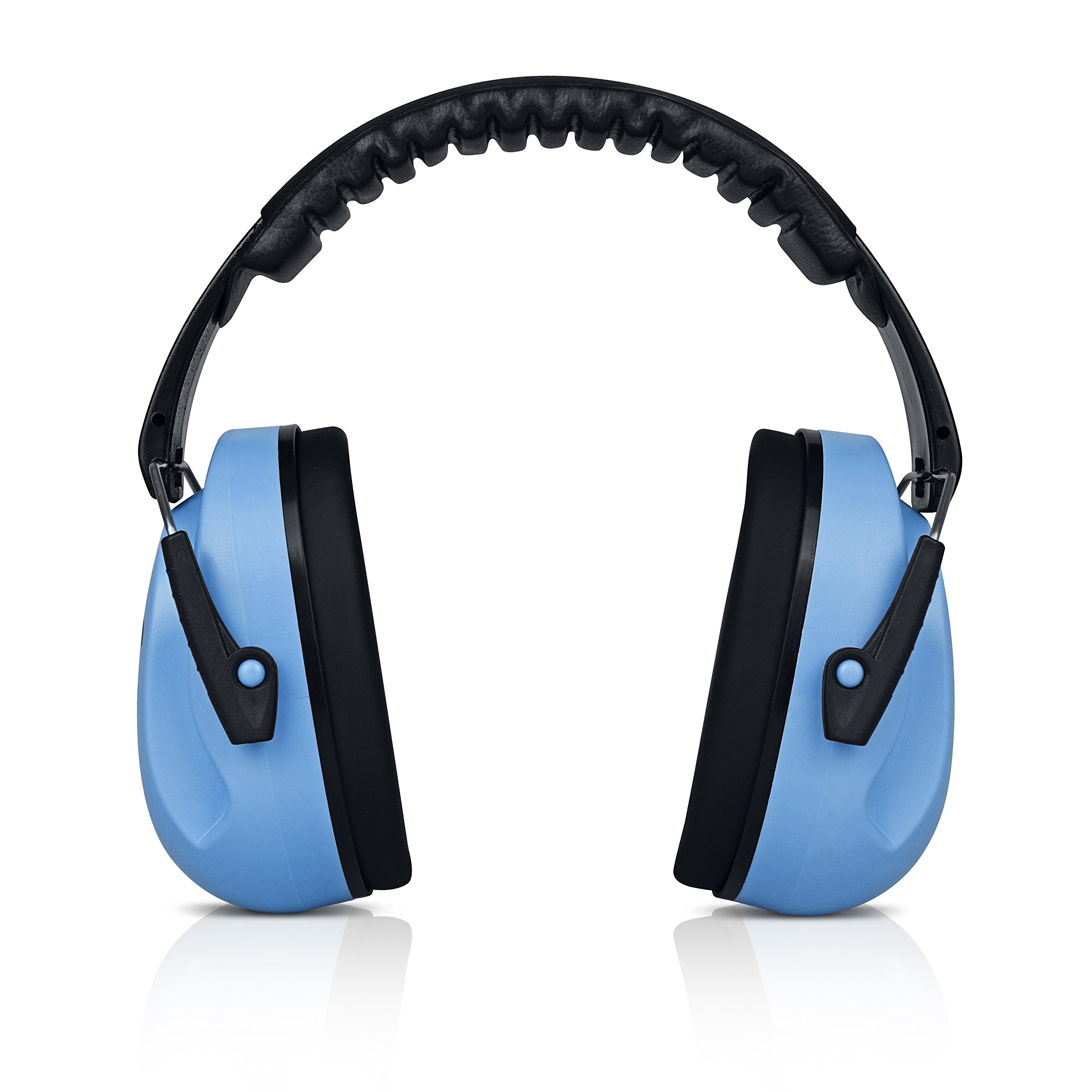 HearTek Kids Ear Protection Noise Reduction Children Protective Earmuffs - Sound Cancelling Hearing Muffs for Toddler, Baby, Infants - Adjustable, Foldable with Travel Bag - Blue