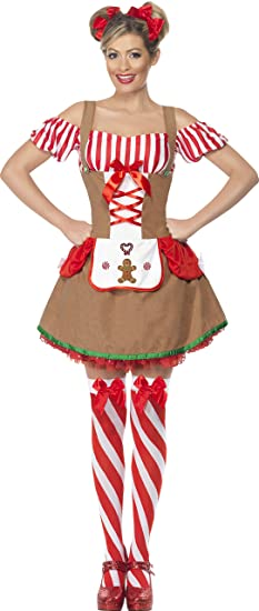 Medium Womenu0027s Gingerbread Costume  sc 1 st  Amazon.com : gingerbread costume for adults  - Germanpascual.Com