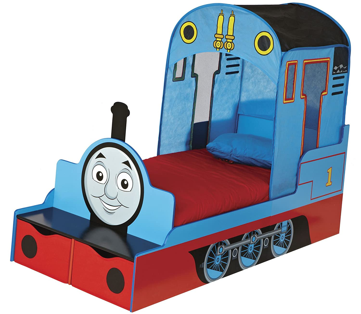 Thomas The Tank Engine Kids Toddler Bed With Underbed Storage HelloHome:  Amazon.co.uk: Kitchen U0026 Home